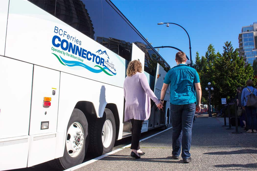 The BC Ferries Connector Bus offers bus-and-ferry connections between Vancouver and Victoria.