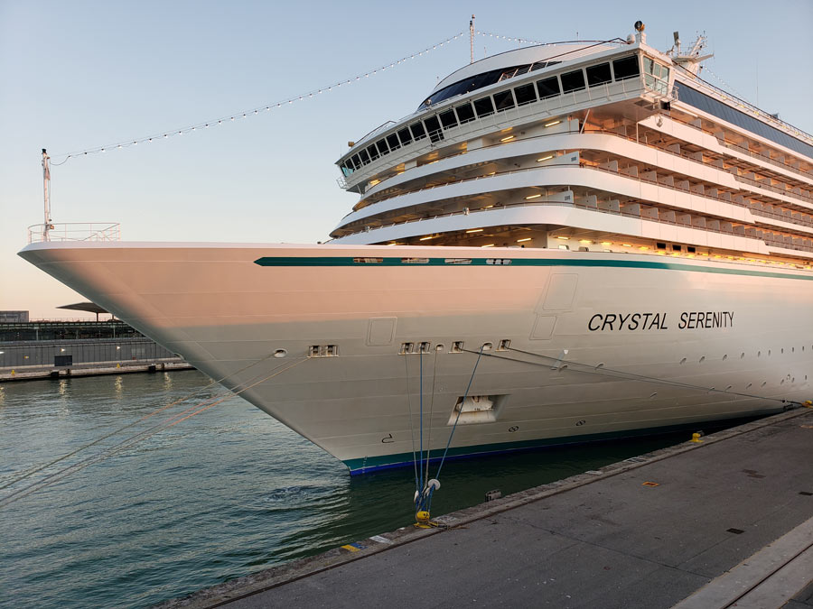 The Crystal Serenity was totally gussied up in November, 2018: See our Crystal Serenity review!
