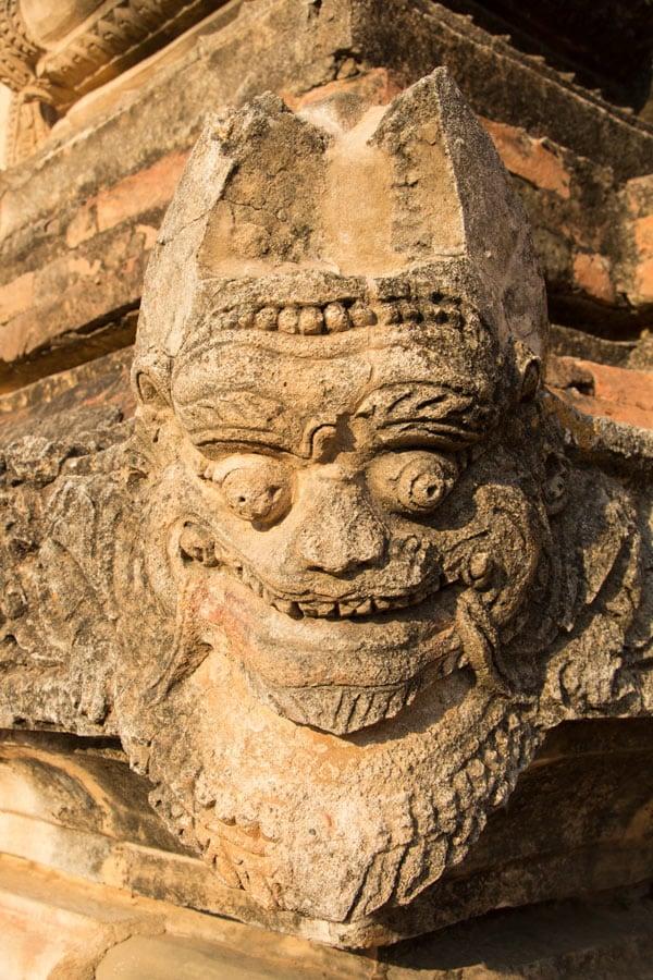 Demon head on Ananda Temple, Bagan