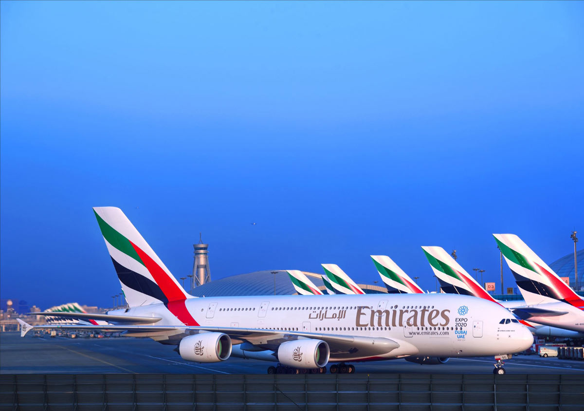 Emirates flies both Boeing 777 and Airbus A380 planes