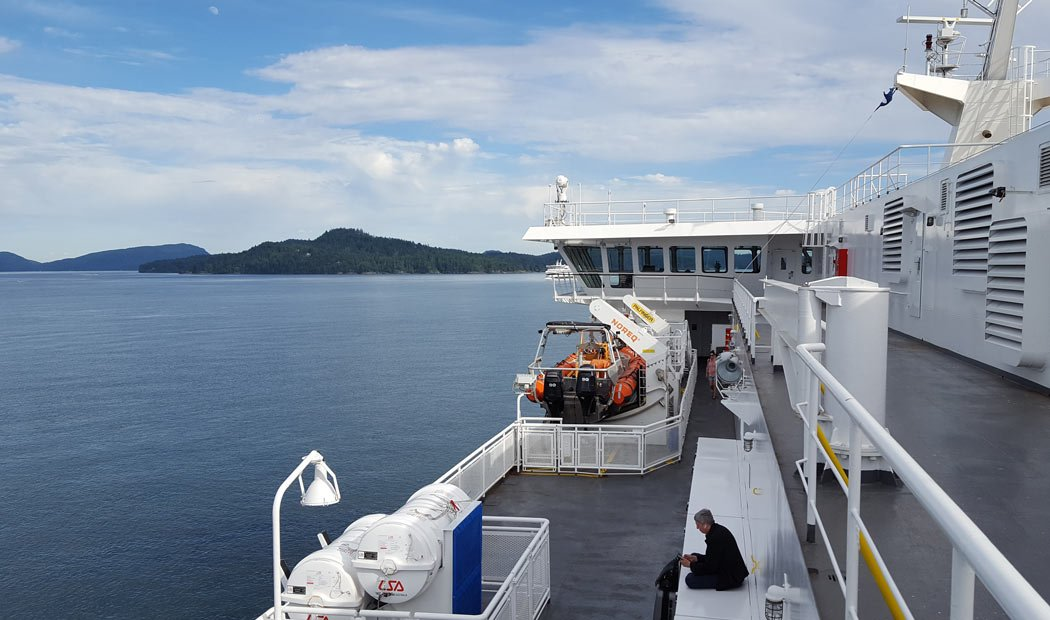 BC Ferries offers frequent ferry service from Vancouver to Victoria.