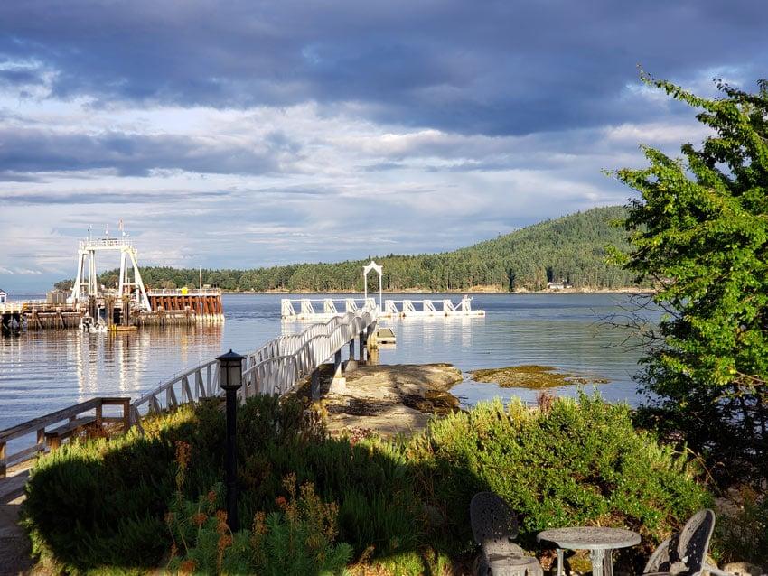BC Ferries dock on Galiano Island