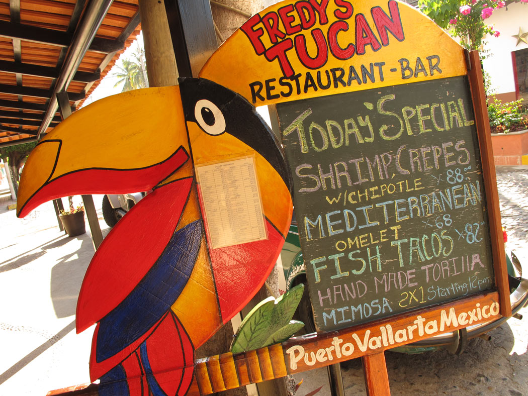 Fredy's Tucan is the best place to have breakfast in Puerto Vallarta.
