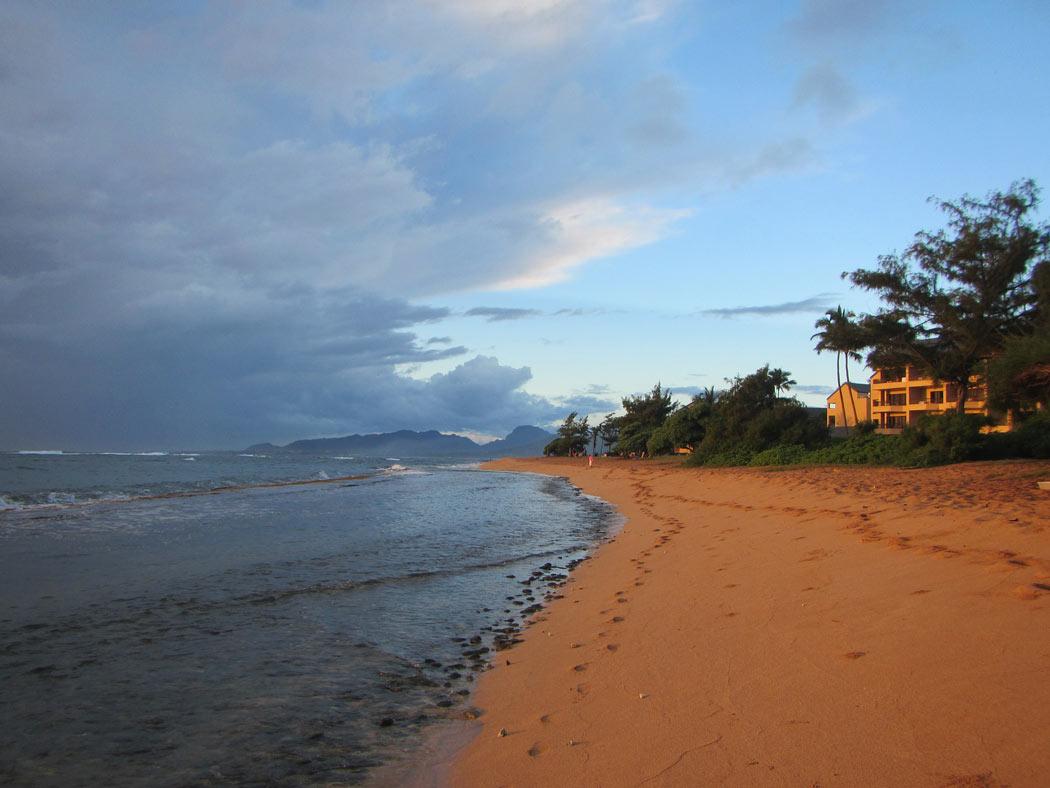 Kapaa Beach is on the east side of Kauai.