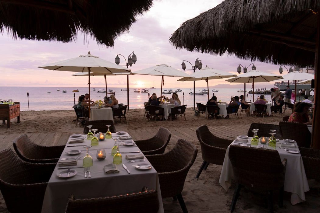 La Palapa is the most romantic of the Puerto Vallarta beach restaurants.