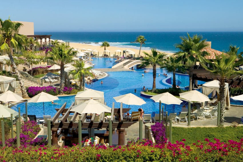 Some suites at Pueblo Bonito Sunset Beach are close to the beach and this main pool.