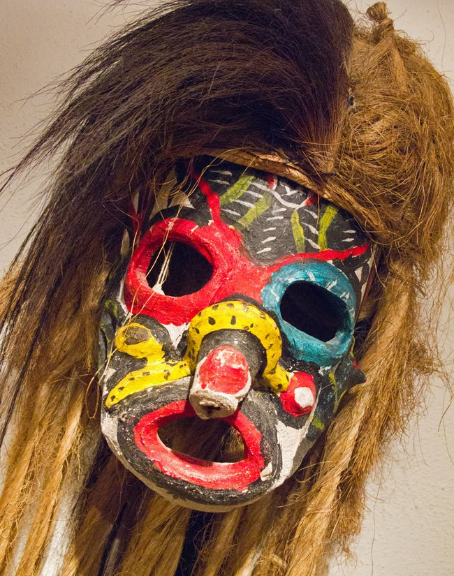 The ceremonial masks in the museum have been crafted by local artisans across Mexico