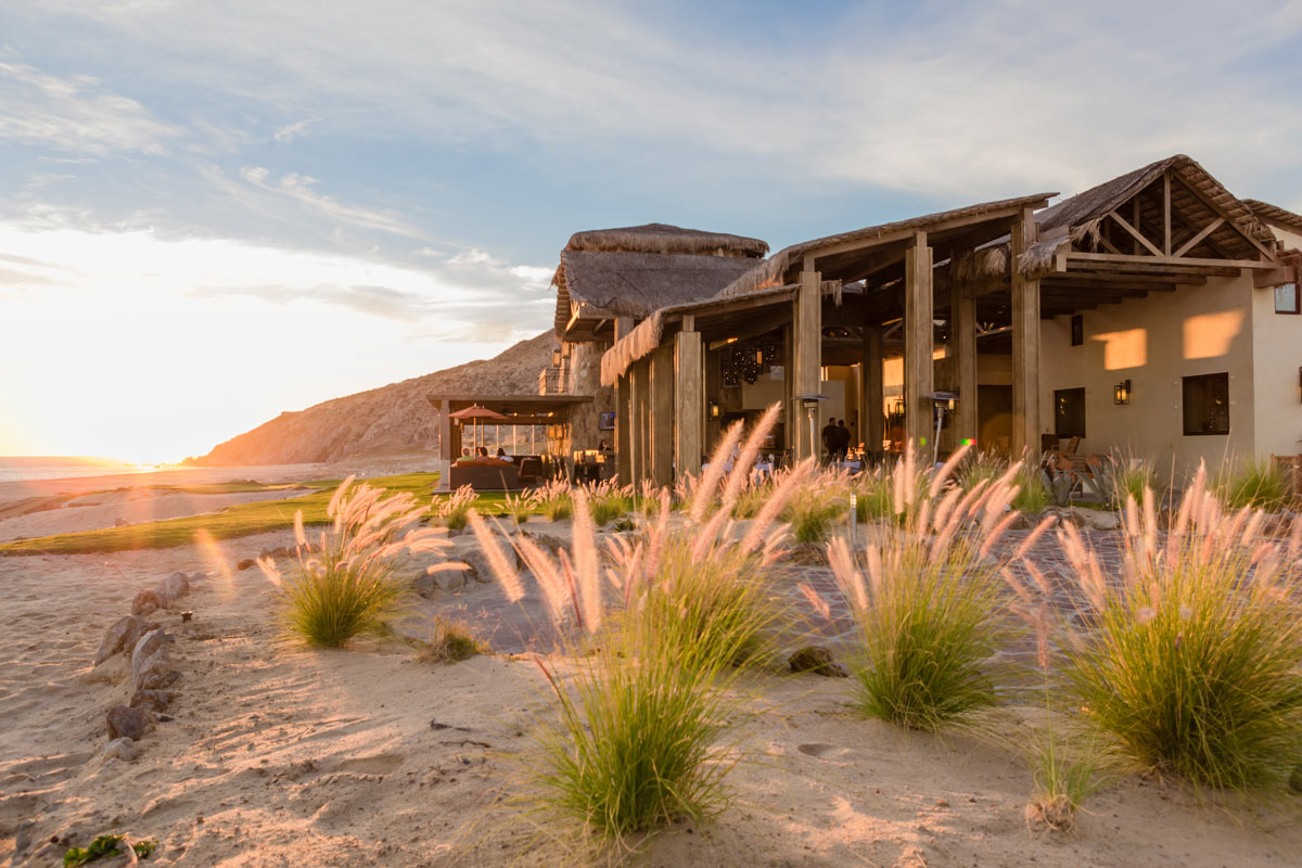 The casual beachfront Quivira Steakhouse at Pueblo Bonito Sunset Beach Resort has both outdoor and indoor seating.