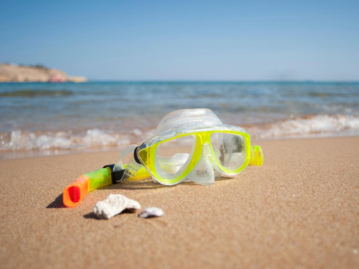 Snorkeling gear at Santa Maria Beach, Cabo San Lucas