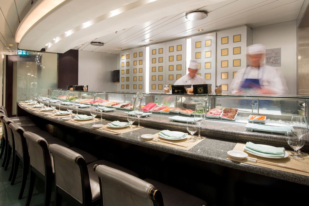 Umi Uma by Master Chef Nobu was perhaps our favorite restaurant on the Crystal Serenity cruise ship.