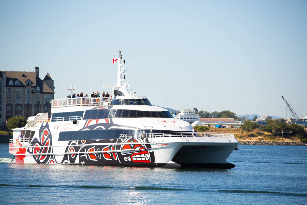 The V2V Ferry is a passenger ferry to Victoria (and ferry from Victoria to Vancouver).