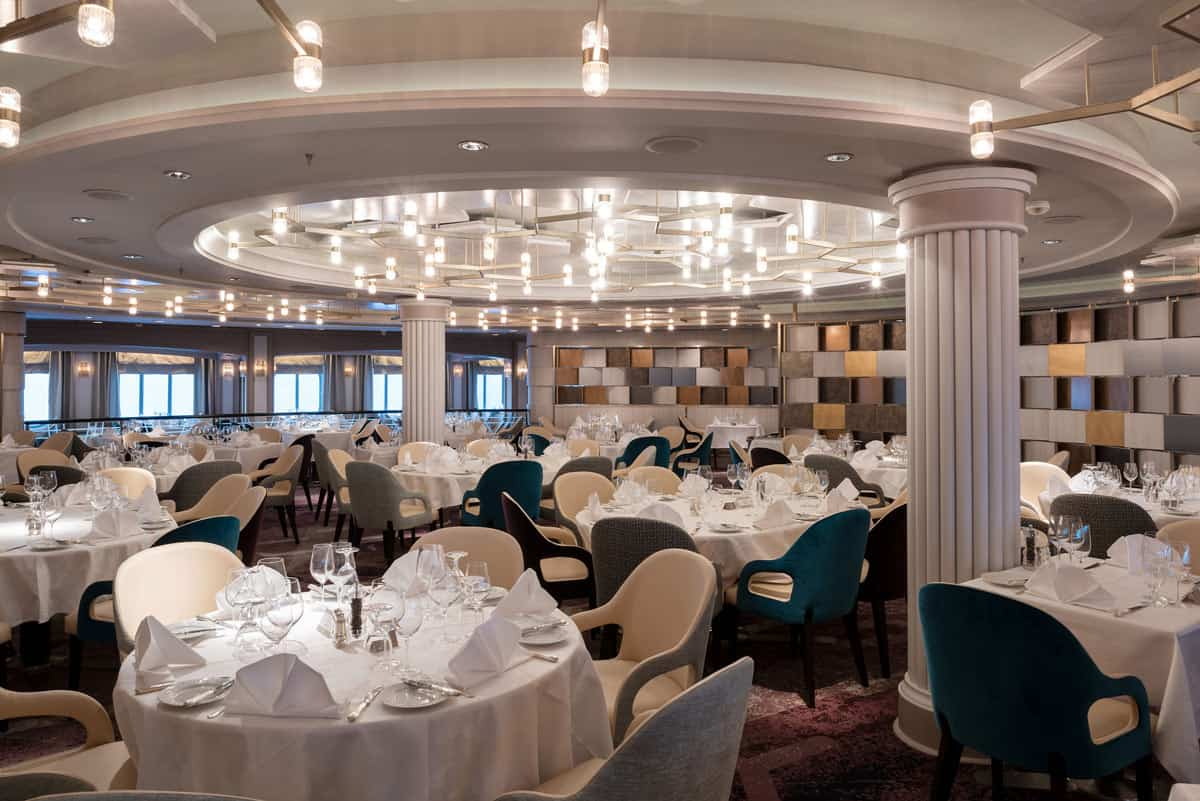 Waterside restaurant on the Crystal Serenity