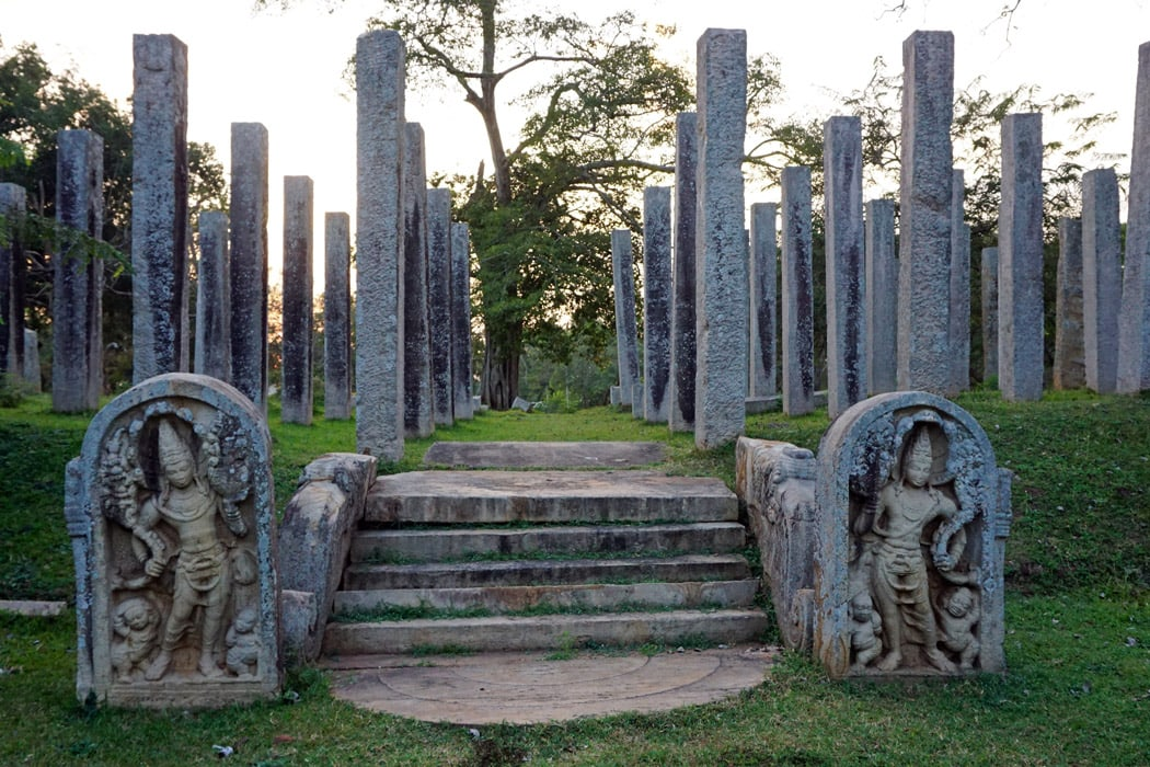 Bicycling around the Anuradhapura temples and ruins at dusk is quite magical.