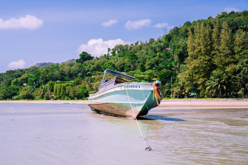 Boat beached on Koh Yao Noi, Thailand