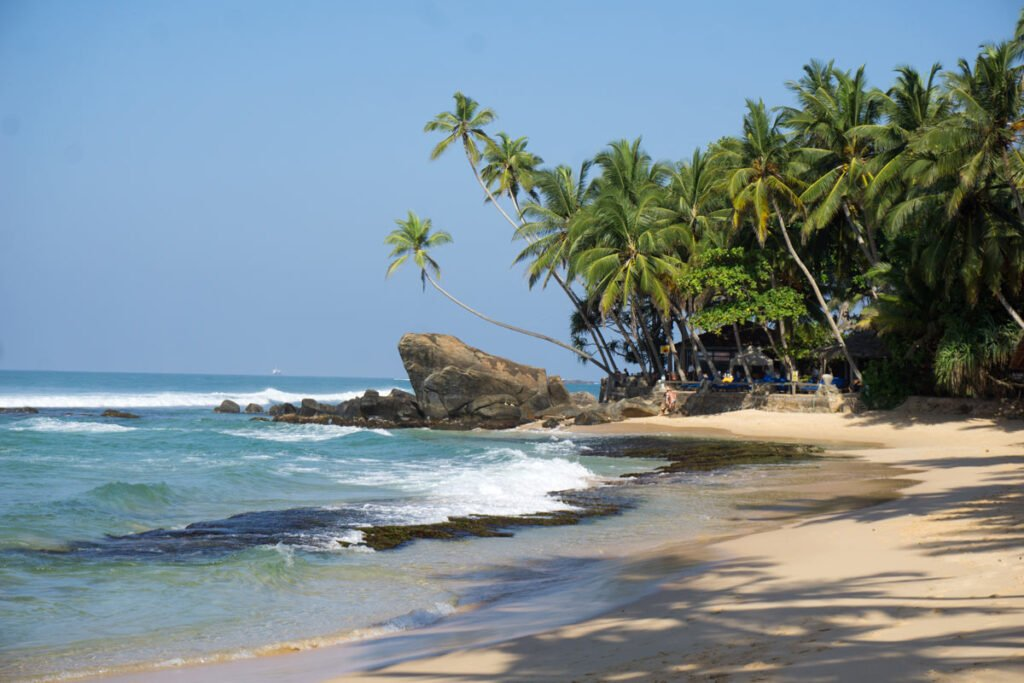 Beautiful Dalawella Beach is one of the best beaches in Sri Lanka.