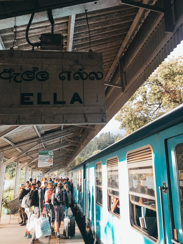 Ella train station in Sri Lanka