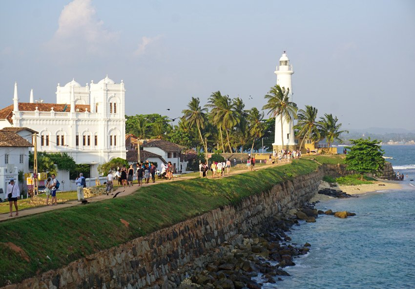 Walking the Galle Fort ramparts is very popular.