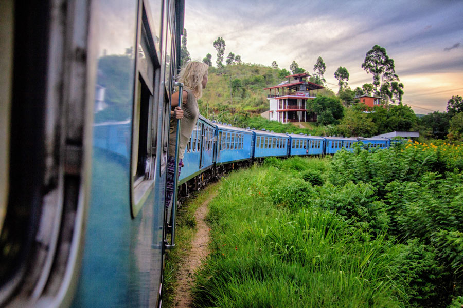 You don't have to book 2nd or 3rd class to hang out the train from Kandy to Ella.