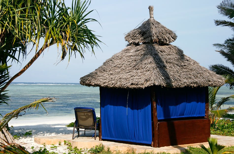 Beach banda at The Palms luxury boutique hotel in Zanzibar