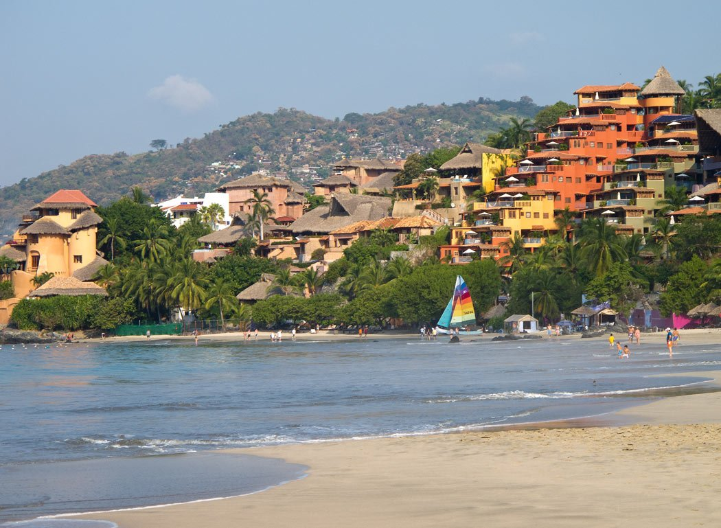 Playa La Ropa Beach in Zihuatanejo is one of the world's prettiest beaches!