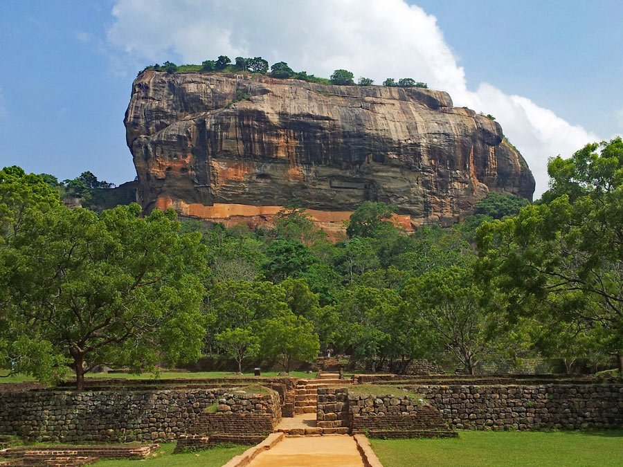 A palace was built on top of Sigiriya Rock 2,500 years ago.