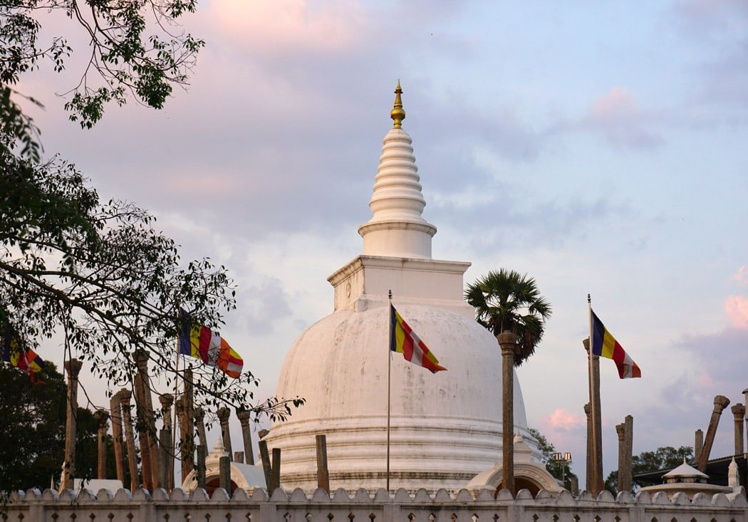Built to contain religious relics, some Anuradhapura stupas soar as high as 400 feet.