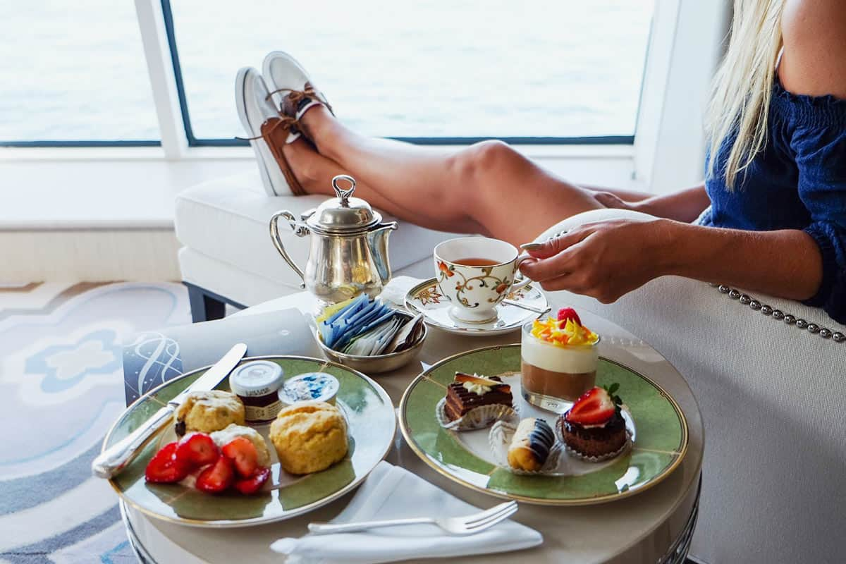 Afternoon tea on Crystal Cruises