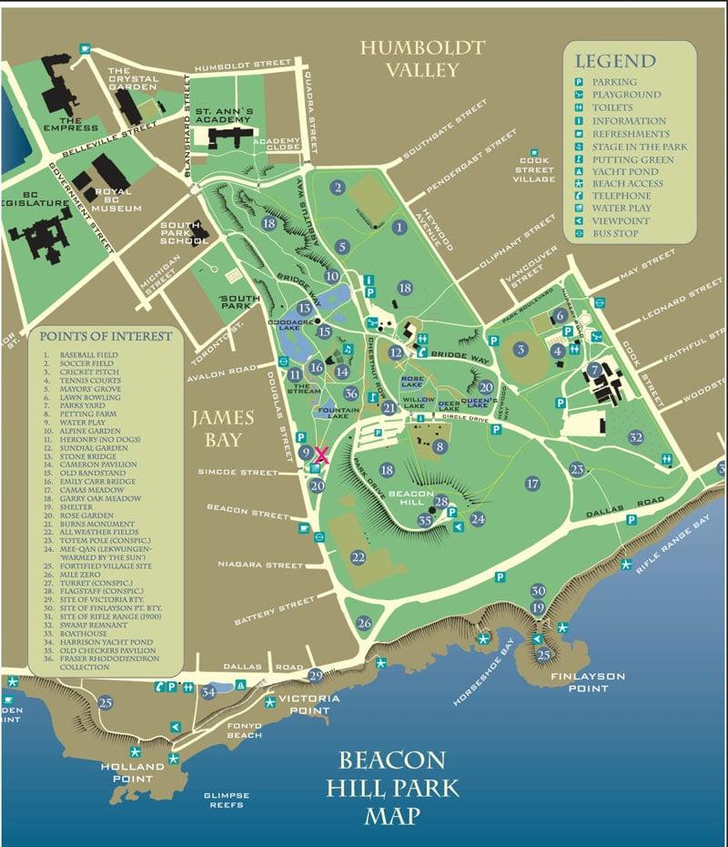 Beacon Hill Park Map