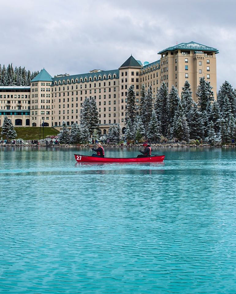 Go paddle a canoe on Lake Louise - a very Canadian thing to do! (Credit: Fairmont Chateau Lake Louise)