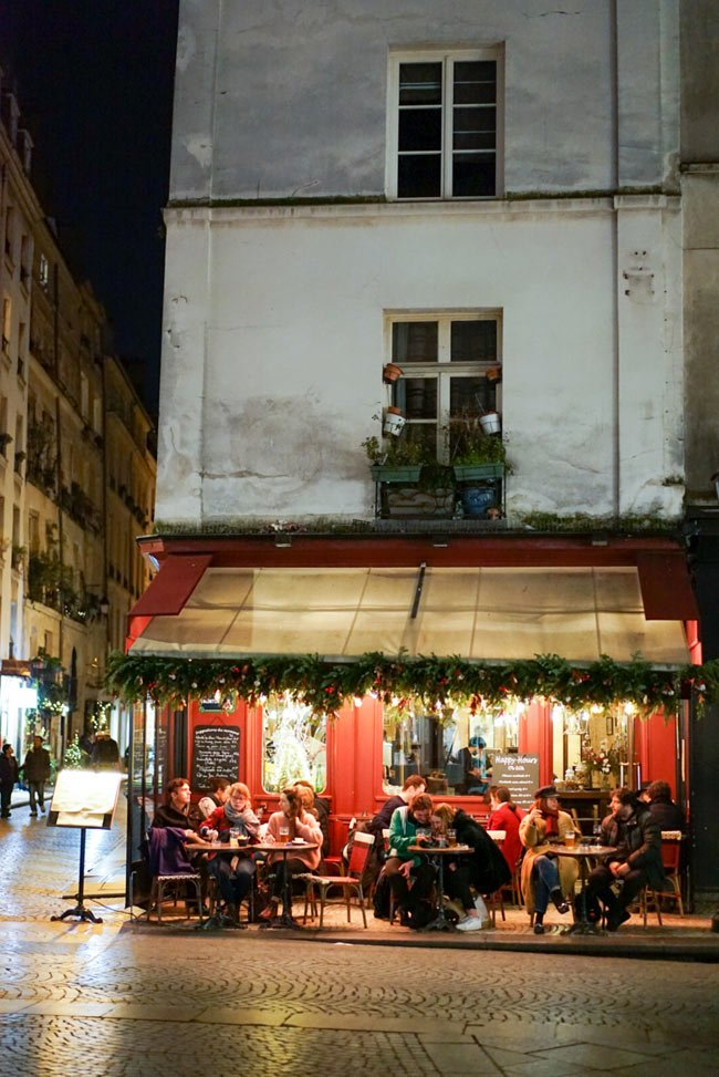 Think of all the restaurant jobs you support when you travel, like this one in France