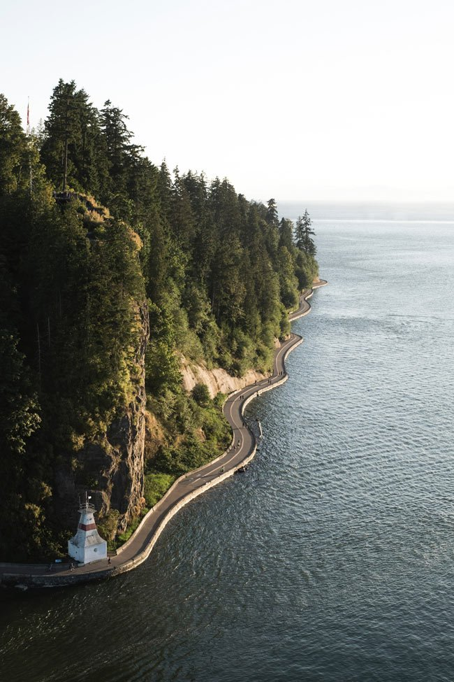 It's rare to see the Stanley Park Seawall as empty as this!