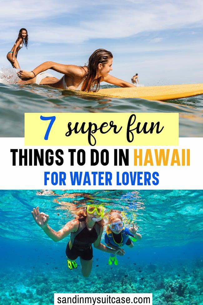 Best water activities in Hawaii