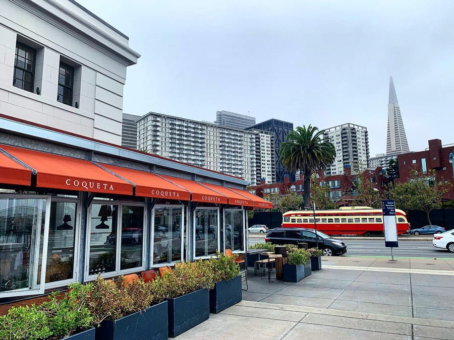 Coqueta on the waterfront is another of our fave San Francisco restaurants.