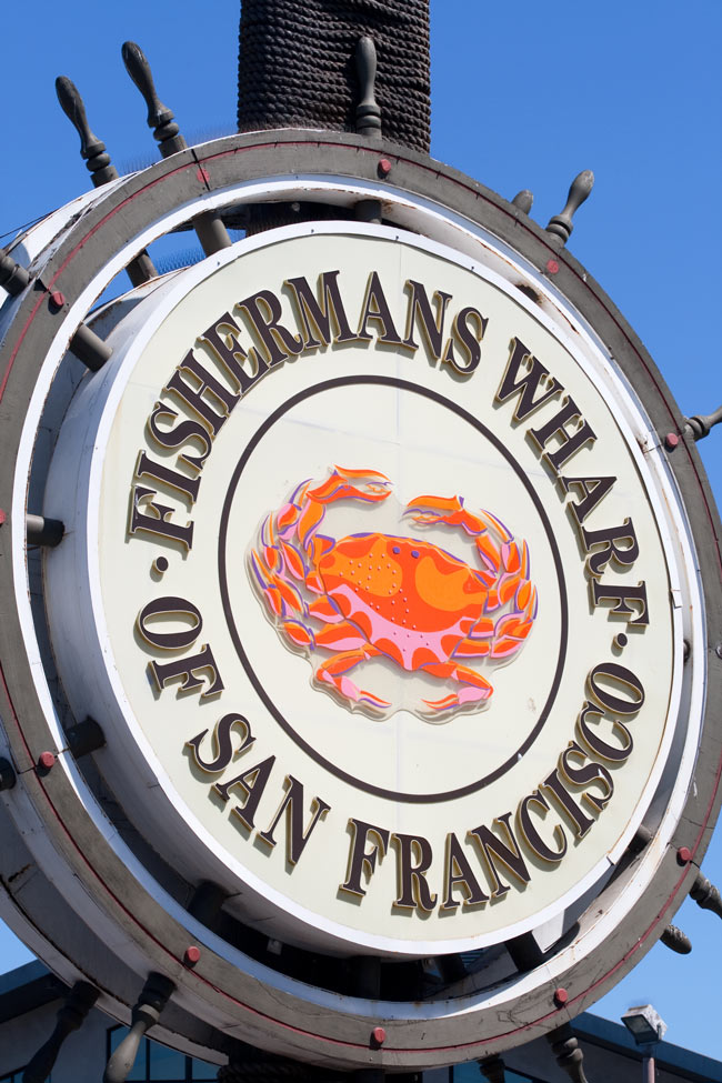 You can't miss chowing down on seafood at Fisherman's Wharf, San Francisco.