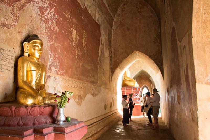 Inside Ananda Temple, Bagan, Myanmar