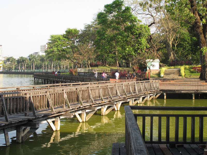 Built by the British as a reservoir, Kandawgyi Lake in Yangon is lovely to stroll about.