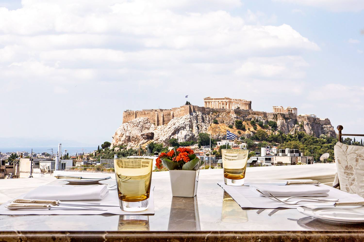 View of the Acropolis from the King George Hotel