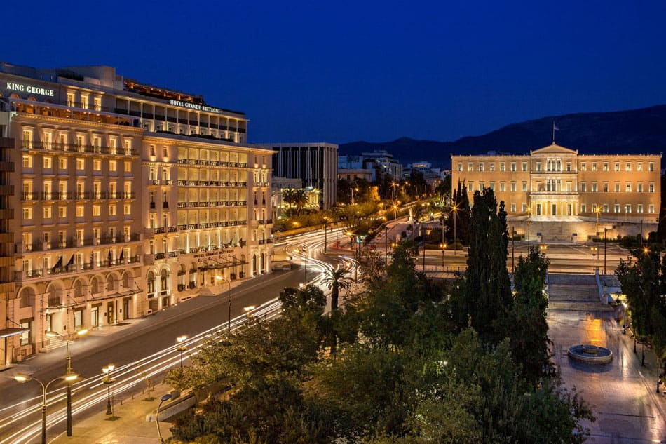 The King George Hotel is one of the best hotels in Athens.