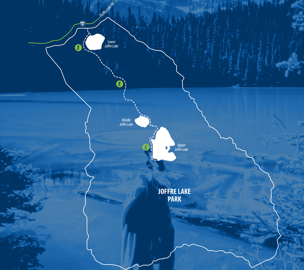 Map of Joffre Lakes hiking trail  (Credit: BC Parks)