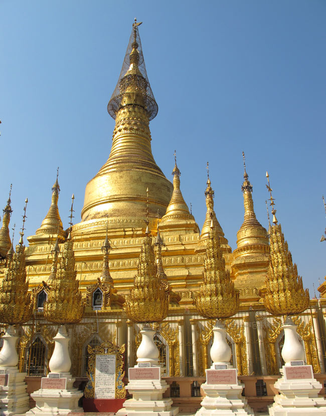 The Shwesandaw Pagoda, Pyay, is one of the most impressive sights in Myanmar