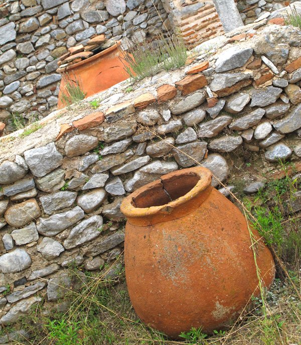 Pottery at the archaeological site of Philippi