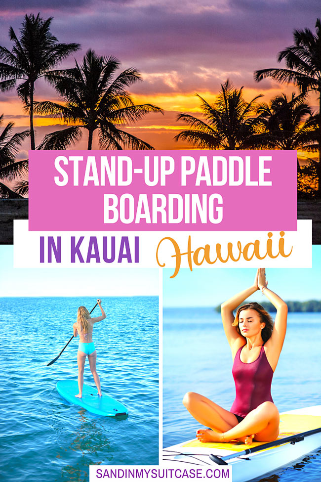 Stand-up paddle boarding in Kauai, Hawaii