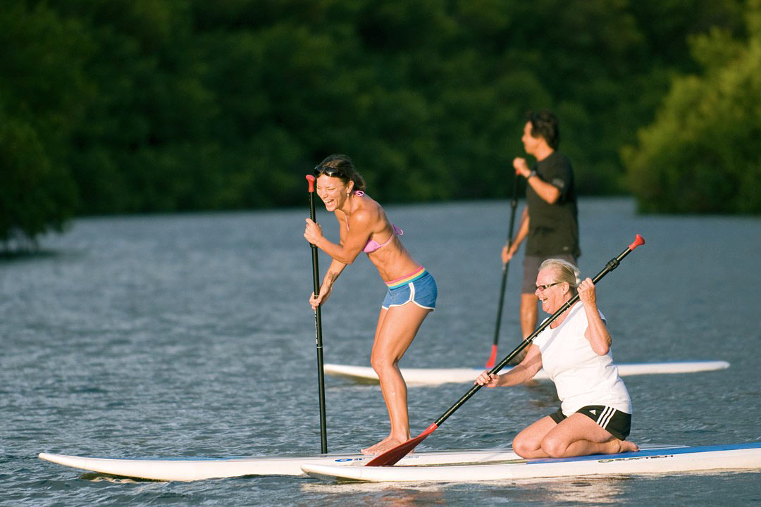 Paddle boarding in Kauai