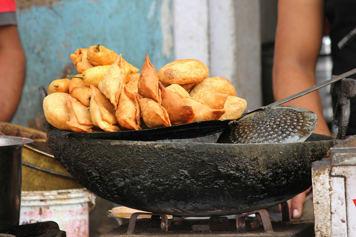 The most popular Indian food in the world? Samosas are right up there.