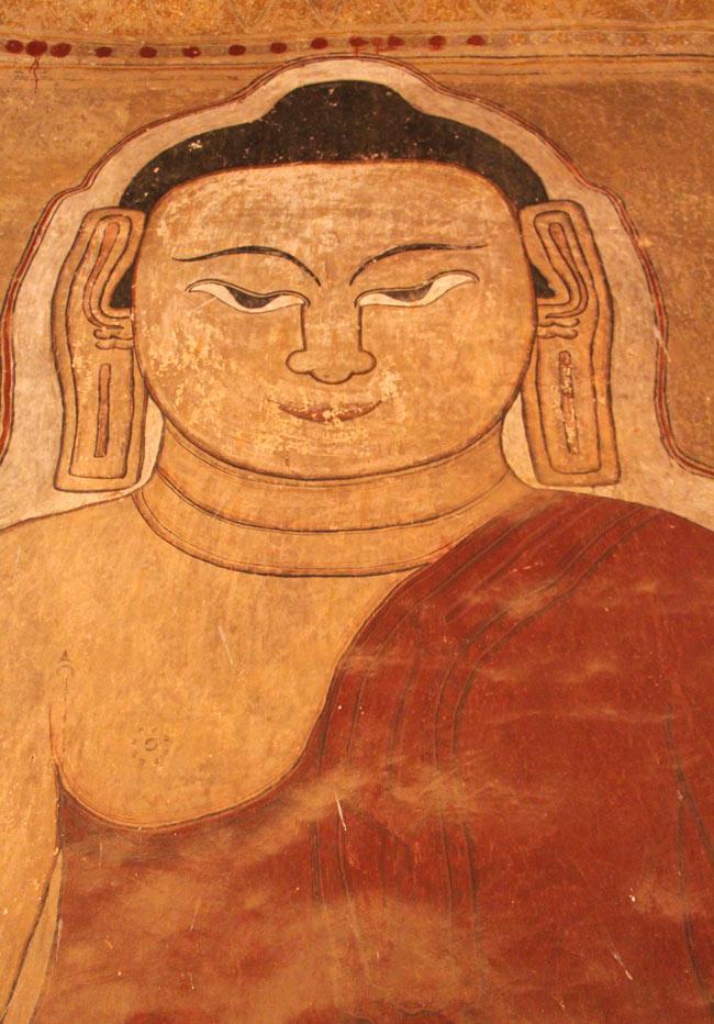 Temple painting in Bagan, Myanmar