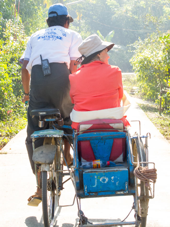Trishaw ride in Myanmar