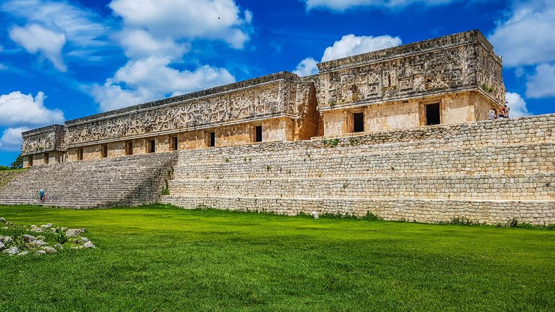 The Uxmal ruins aren't nearly as crowded as Chichen Itza