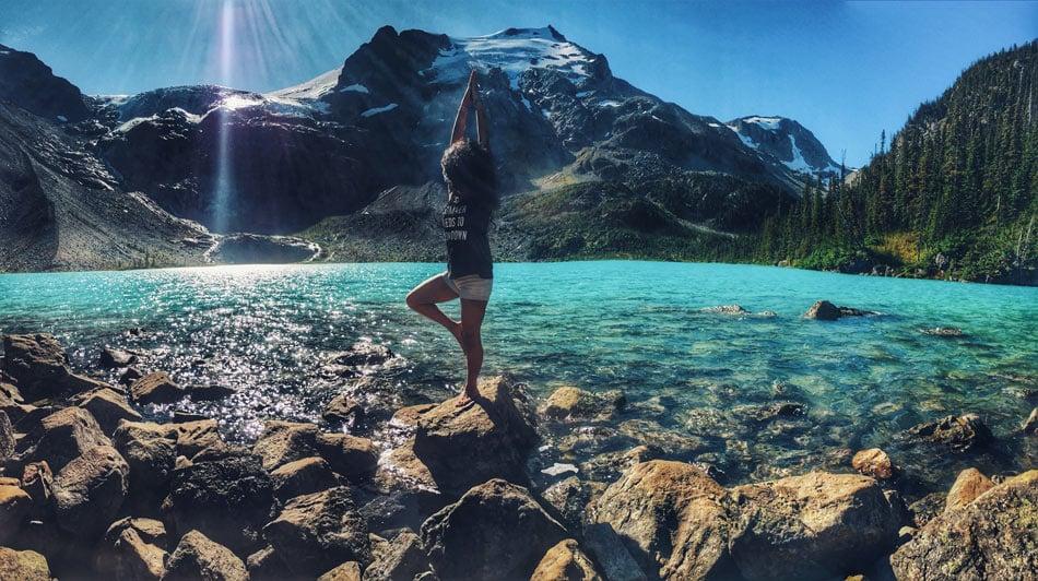 Joffre Lake yoga: Feel the Zen!