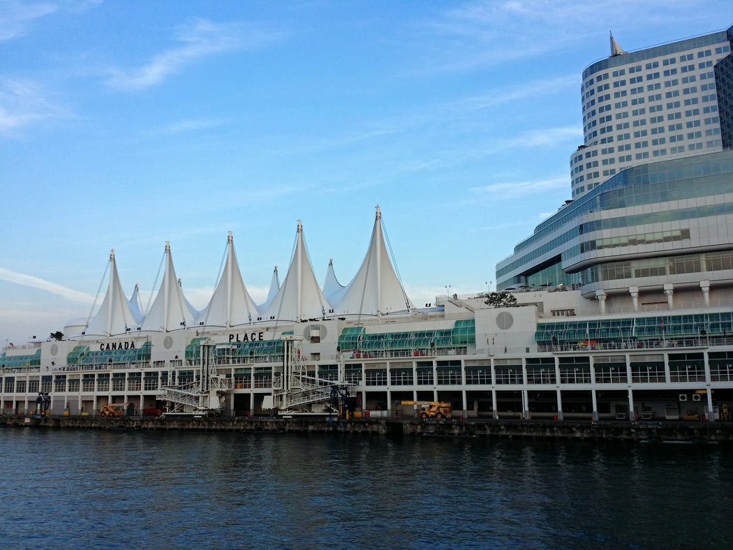 In Vancouver, cruise ships dock at Canada Place, just steps away from shops, restaurants and lovely seaside walks.