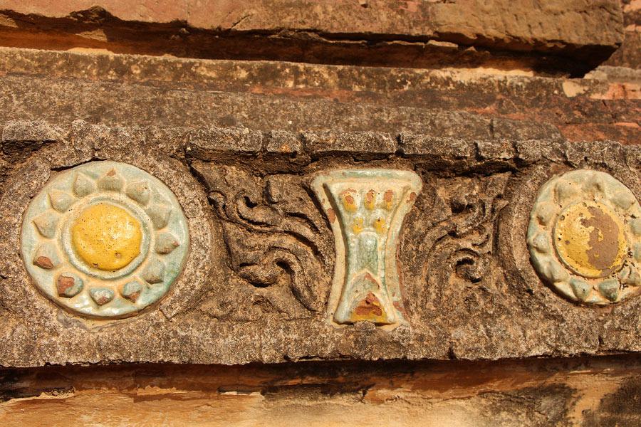 Ceramic tiles on Ananda Temple, Bagan